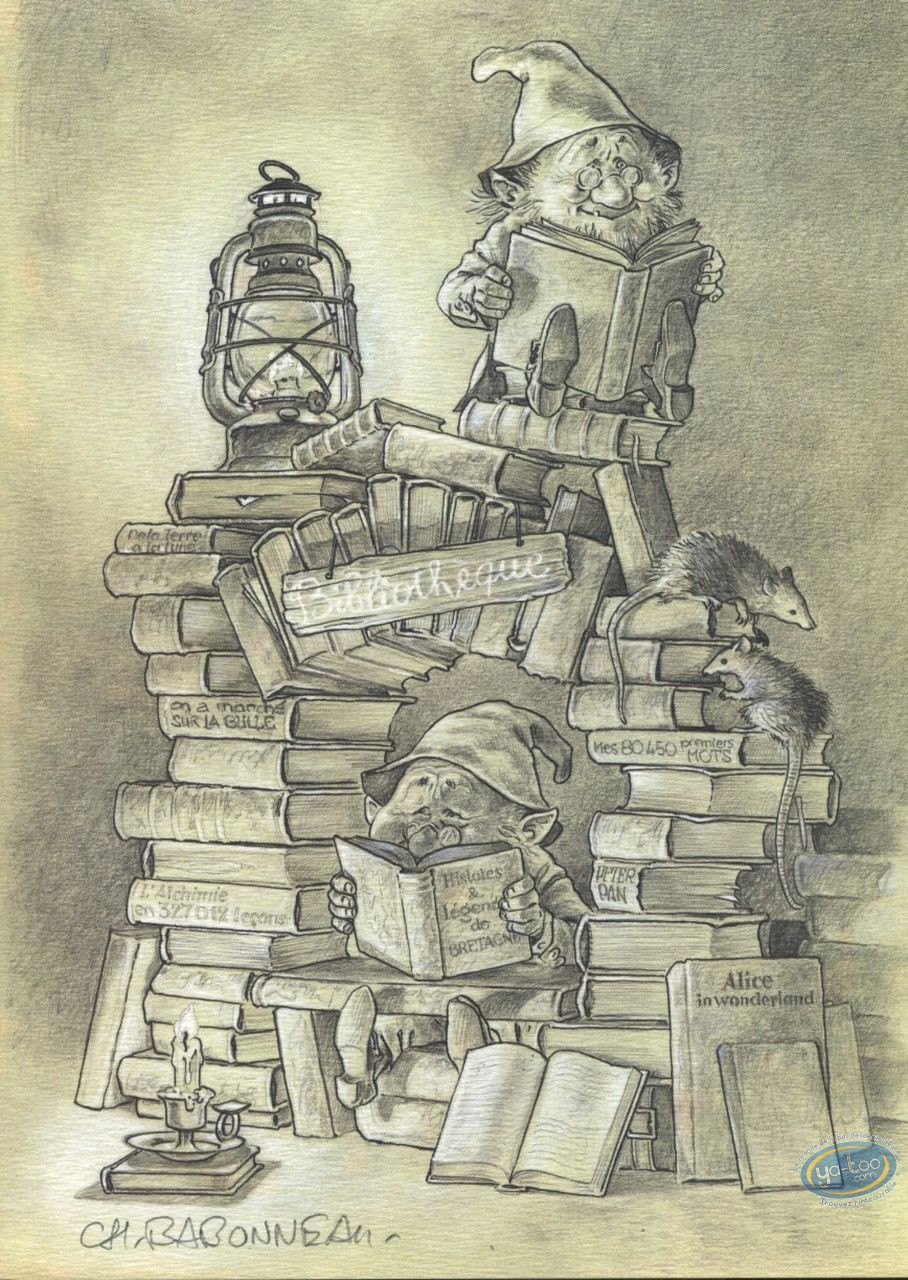 Ex-libris Offset, Bibliothèque