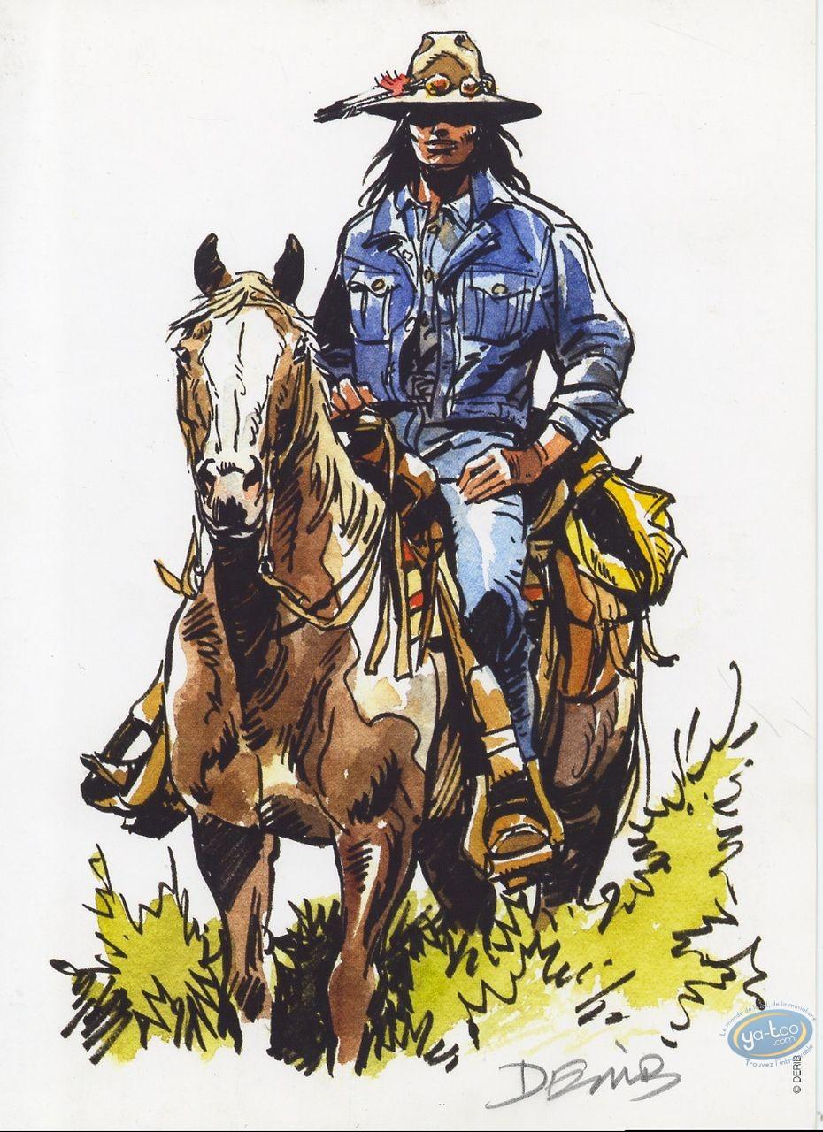 Ex-libris Offset, Buddy Longway : Indien à cheval