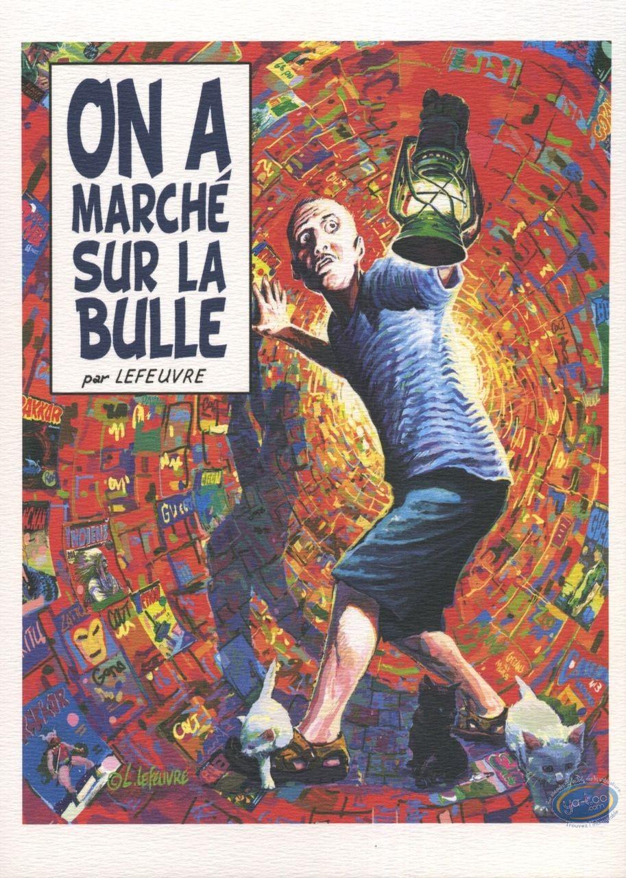 Ex-libris Offset, On a marché sur la bulle (non signé)