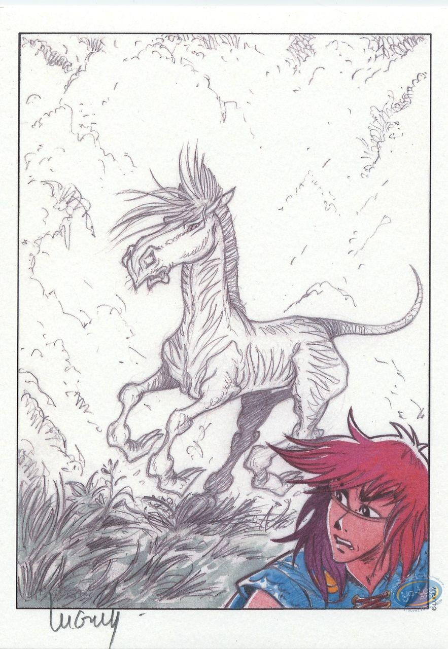 Ex-libris Offset, Percevan : Percevan et le cheval