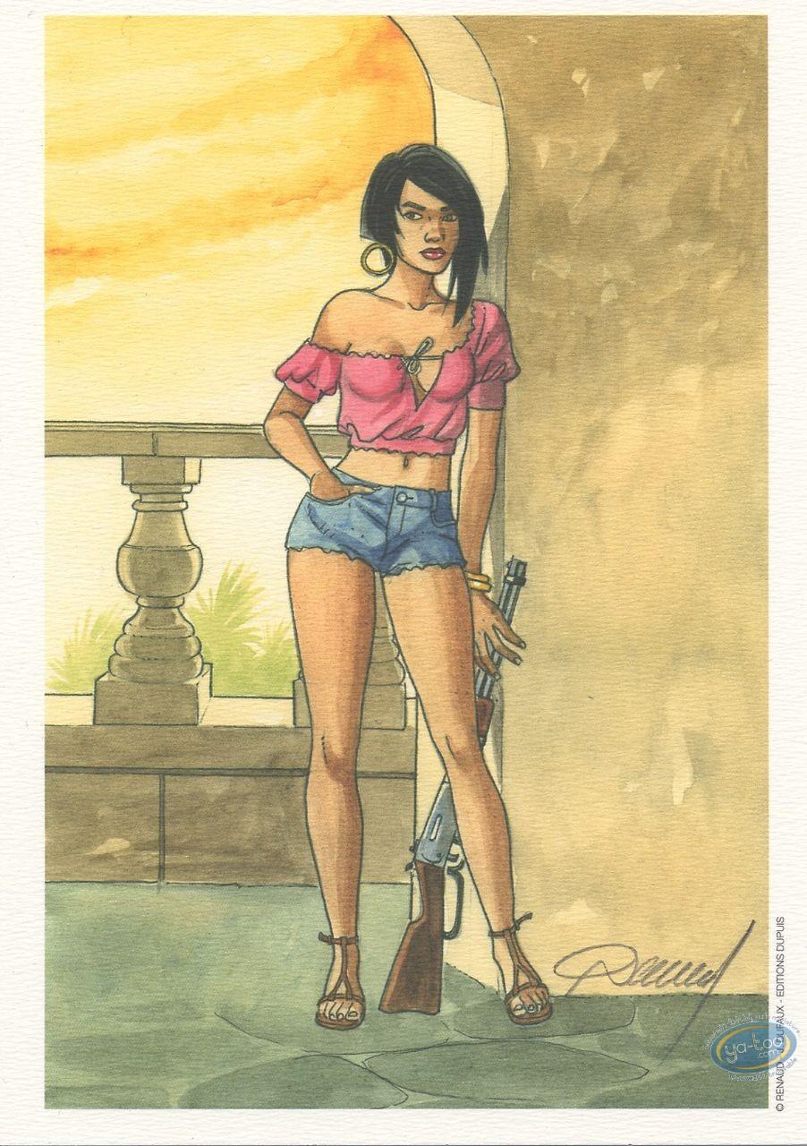 Ex-libris Offset, Vénus H : Femme au fusil