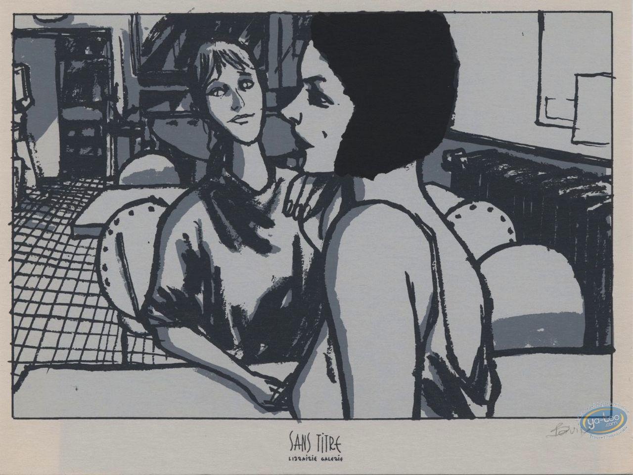 Ex-libris Sérigraphie, Trois Allumettes : Femmes