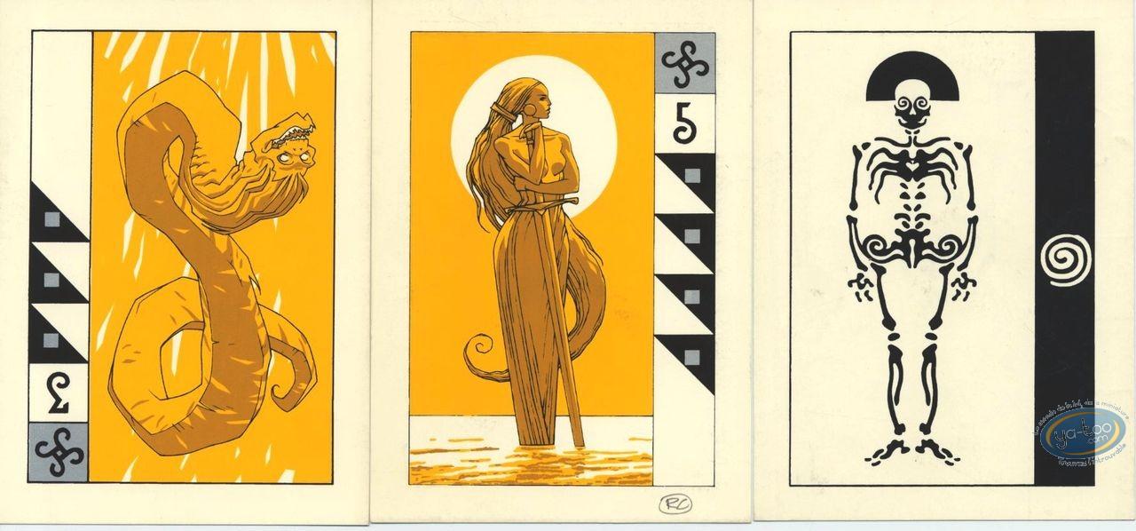 Ex-libris Sérigraphie, Arcanes : Cartes