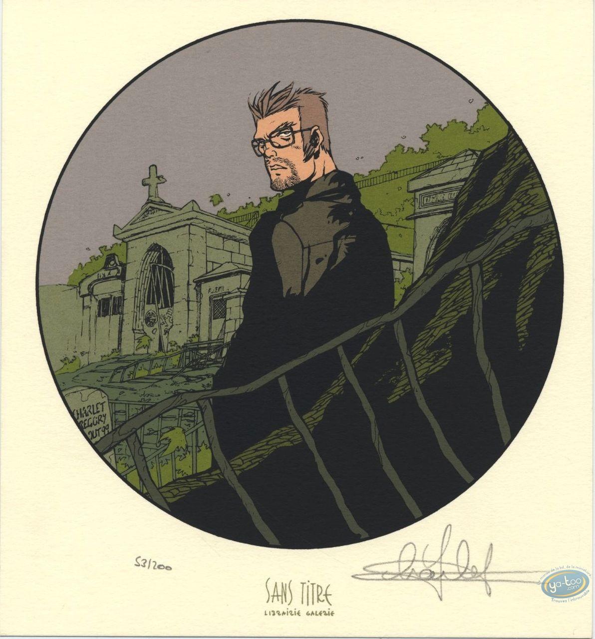 Ex-libris Sérigraphie, Maître de Jeu (Le) : Cimetière