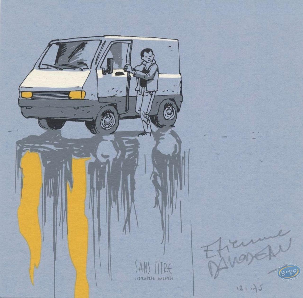 Ex-libris Sérigraphie, Quelques Jours avec un Menteur : camionnette