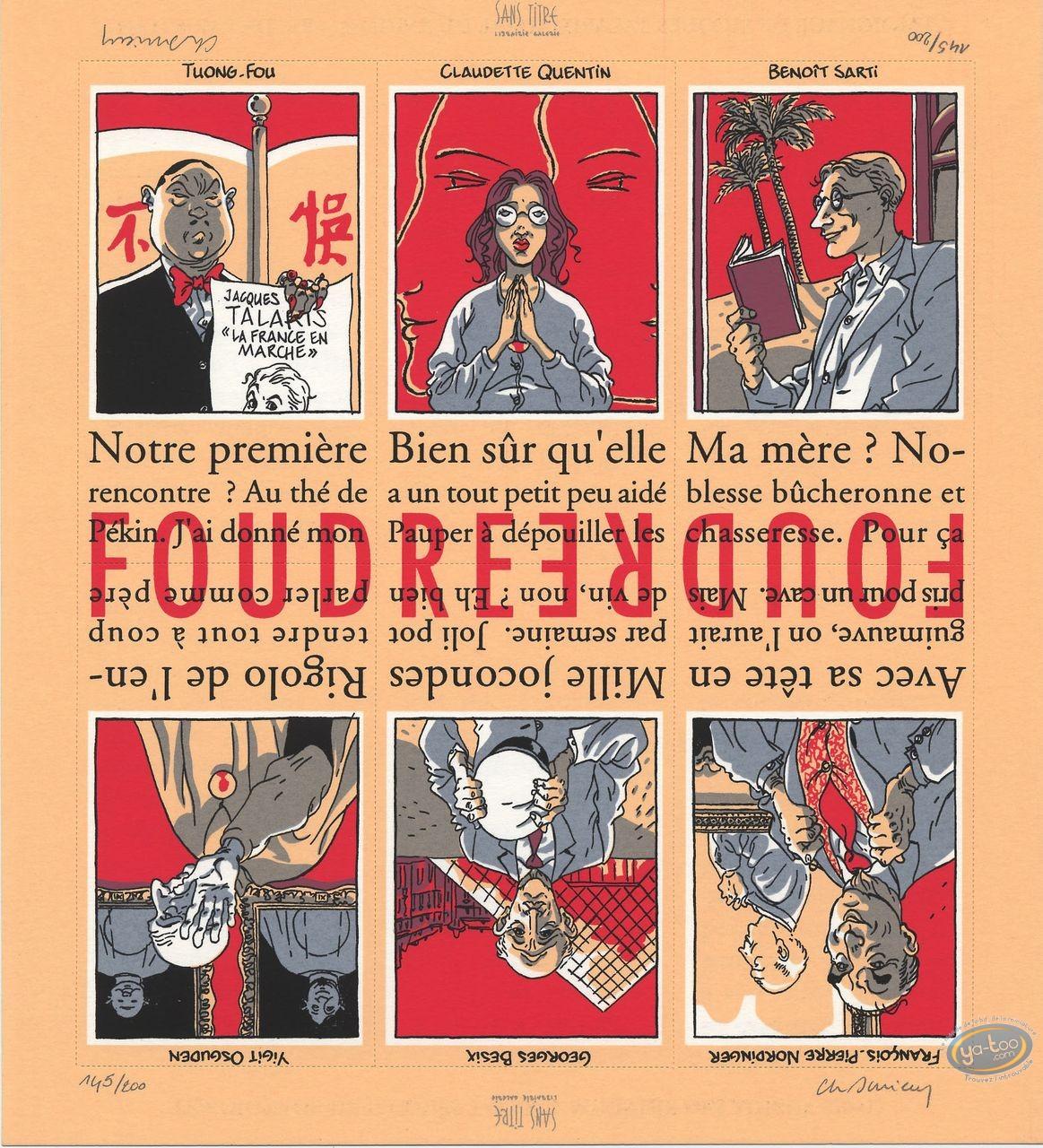 Ex-libris Sérigraphie, Foudre : Galerie de personnages