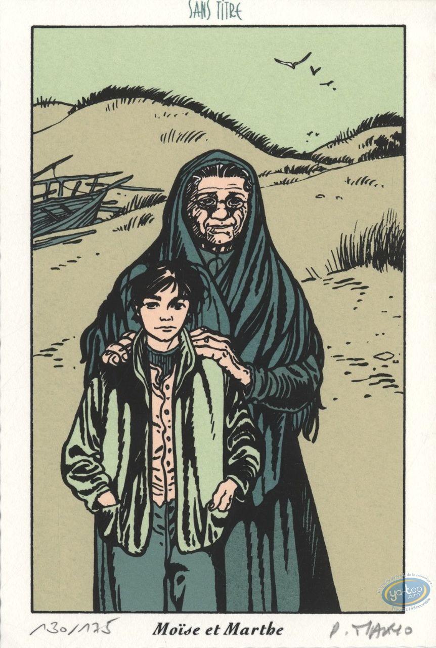 Ex-libris Sérigraphie, Coeur en Islande (Le) : Moïse & Marthe