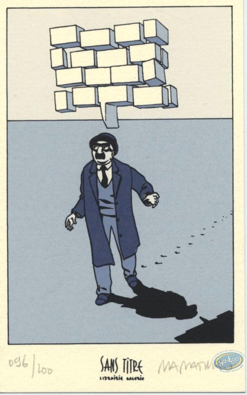 Ex-libris Sérigraphie, Julius Corentin Acquefacques : Homme marchant