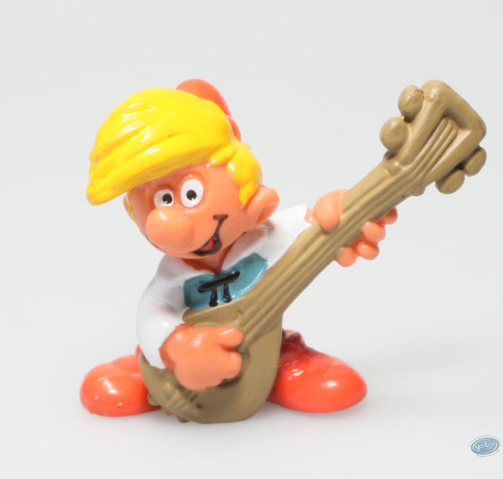 Figurine plastique, Schtroumpfs (Les) : Pirlouit joue du luth