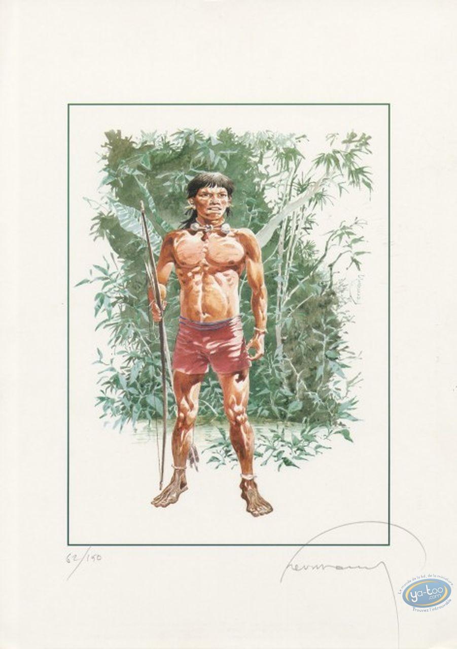 Affiche Offset, Indien d'Amazonie