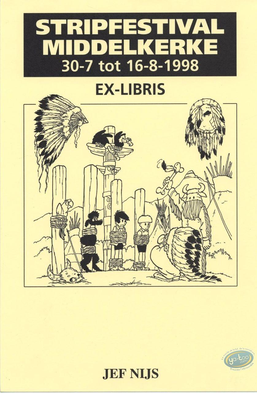 Ex-libris Offset, Gil et Jo : Jef Nijs, Gil et Jo chez les Indiens