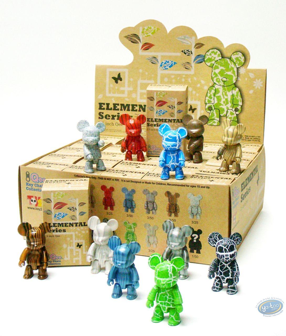Porte-clé, Quee : Qee DIY Elementals 2,5 inch (12 modèles différents), Artoyz
