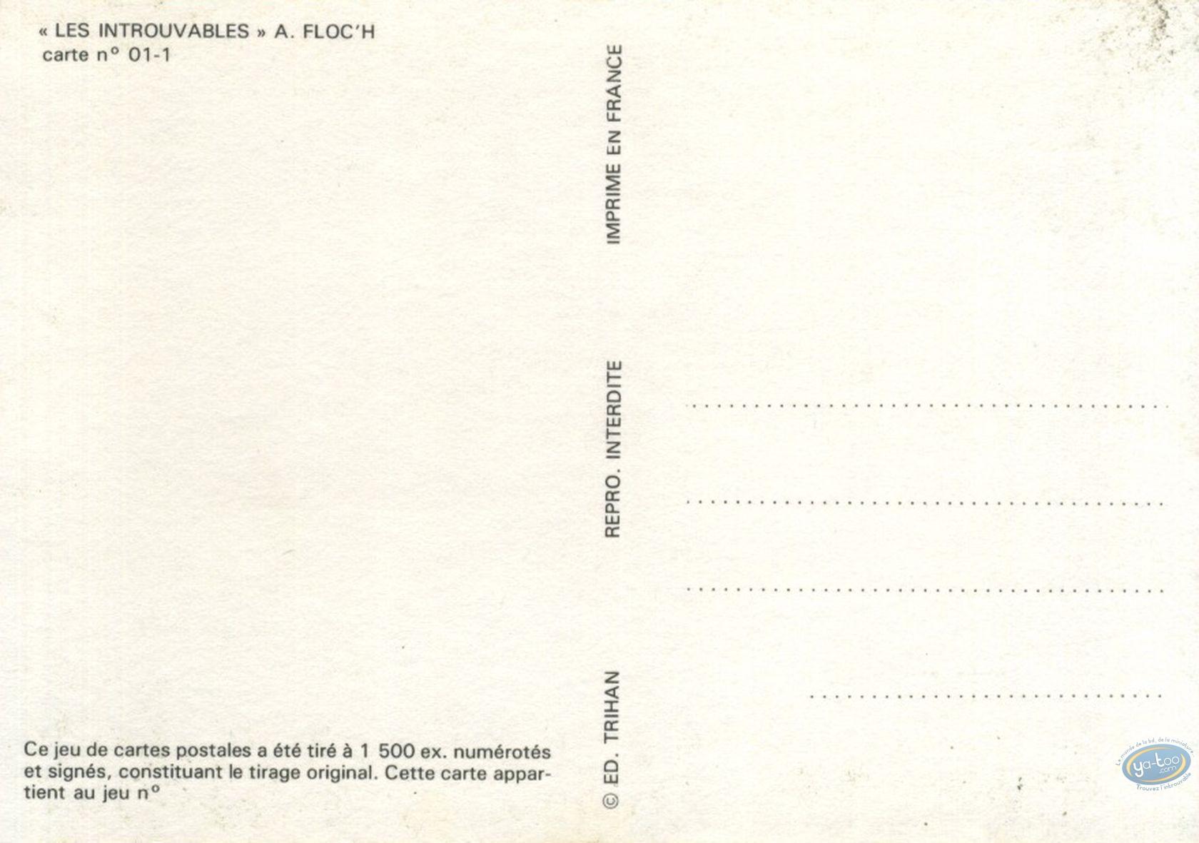 Carte postale, Hommage à Jijé, Les introuvables n° 1 par A. Floc'h