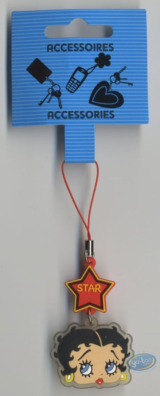 Figurine plastique, Betty Boop : Pendentif GSM PVC : Betty Boop