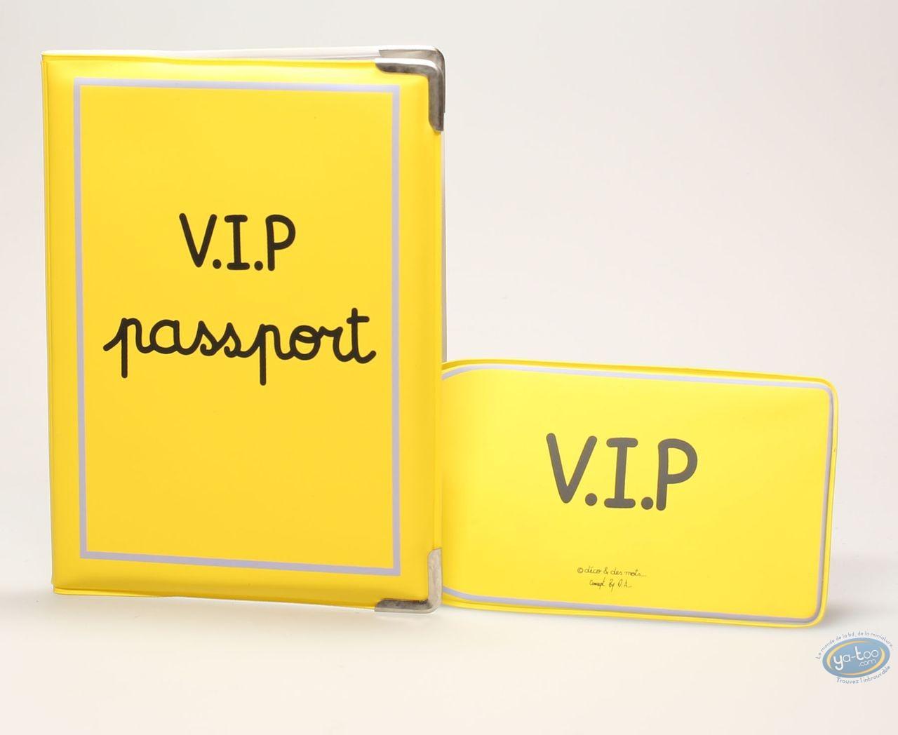 Bagagerie, Protège passeport + porte etiquette de bagage : VIP