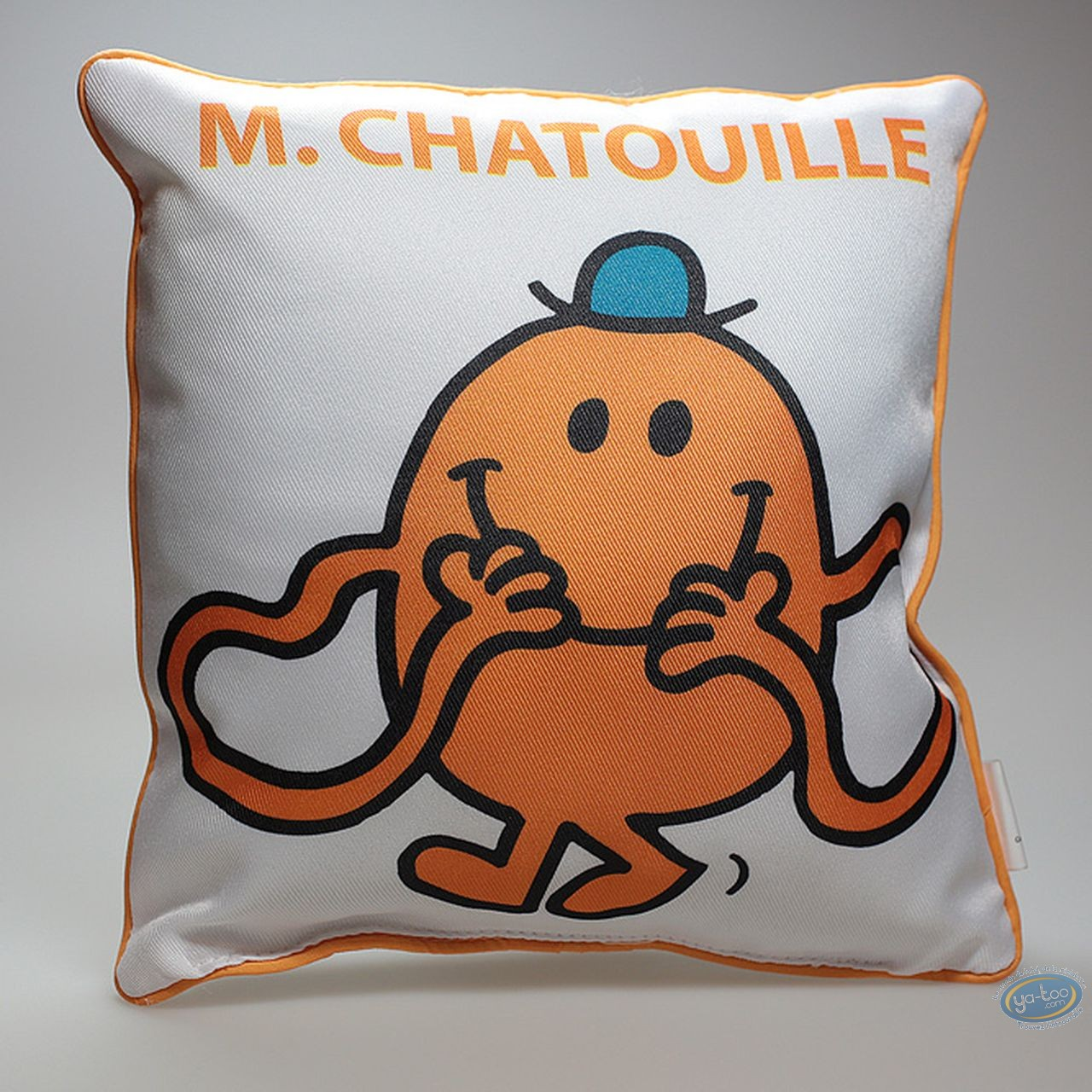 Déco, Monsieur et Madame : Coussin, Mr Chatouille : Blanc