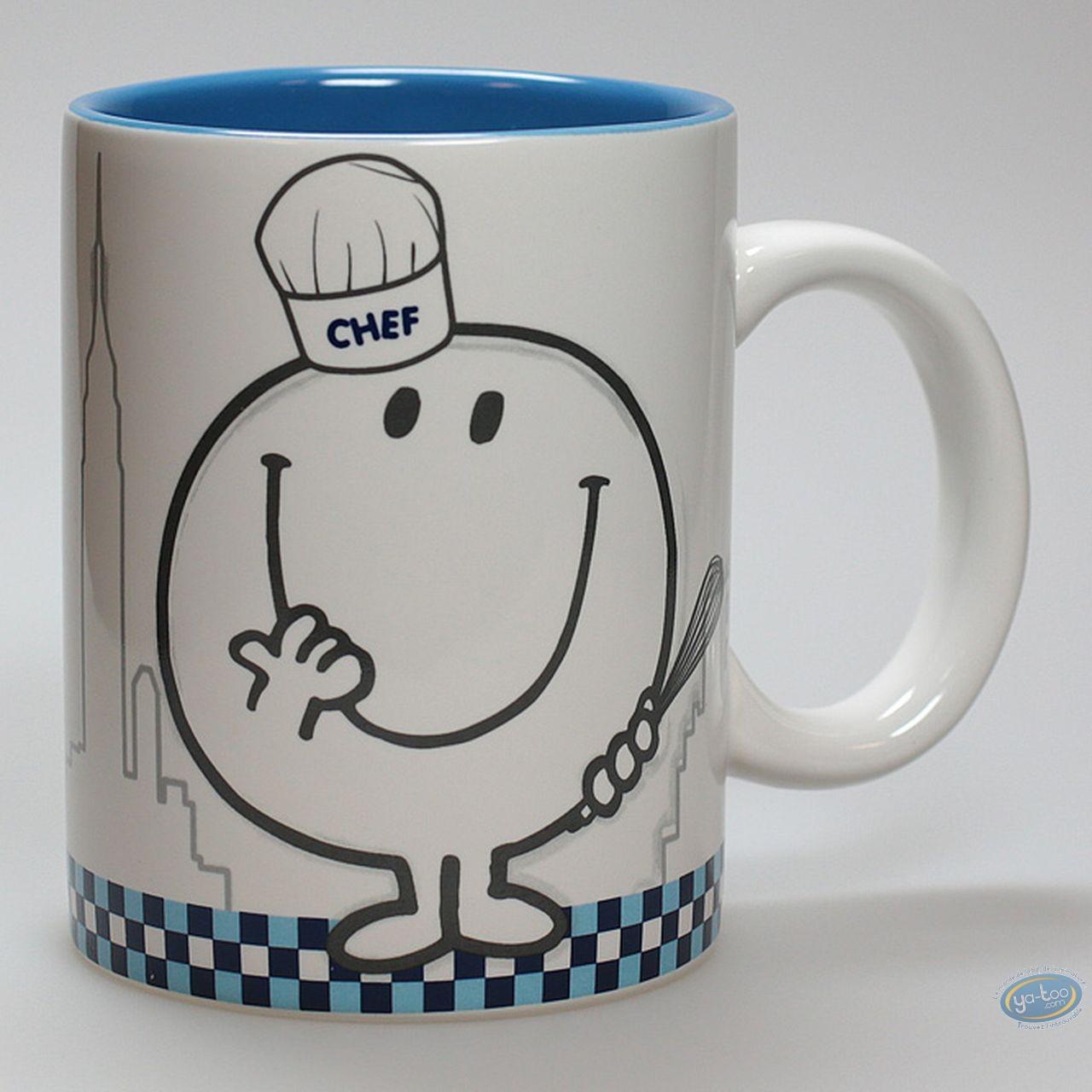 Art de la Table, Monsieur et Madame : Mug,  Happy Cooking : Bleu
