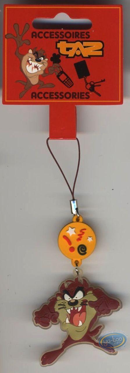 Figurine plastique, Taz : Pendentif PVC pour portable, Taz