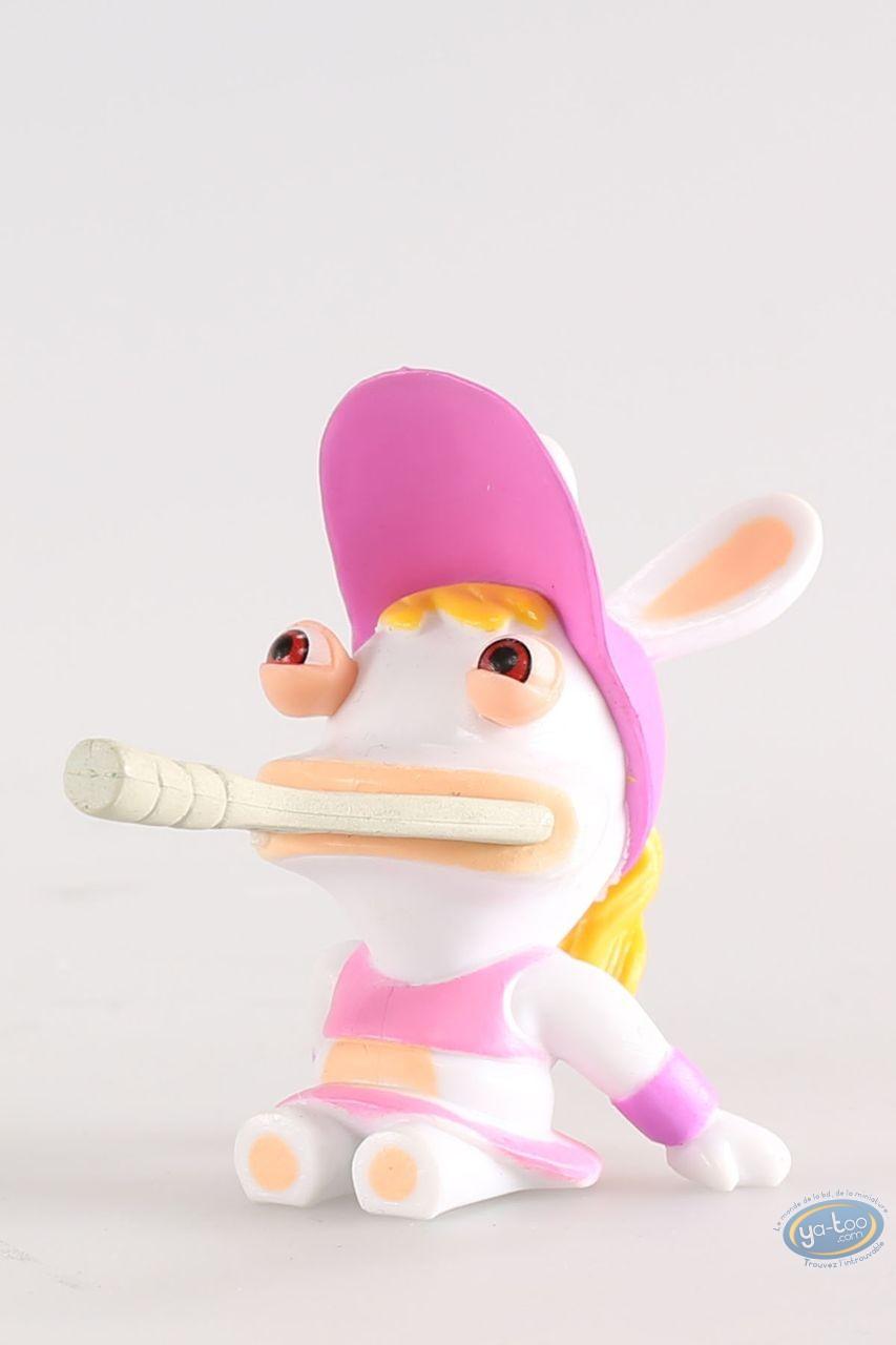 Figurine plastique, Lapins Crétins (Les) : Tenniswoman (bouche raquette)