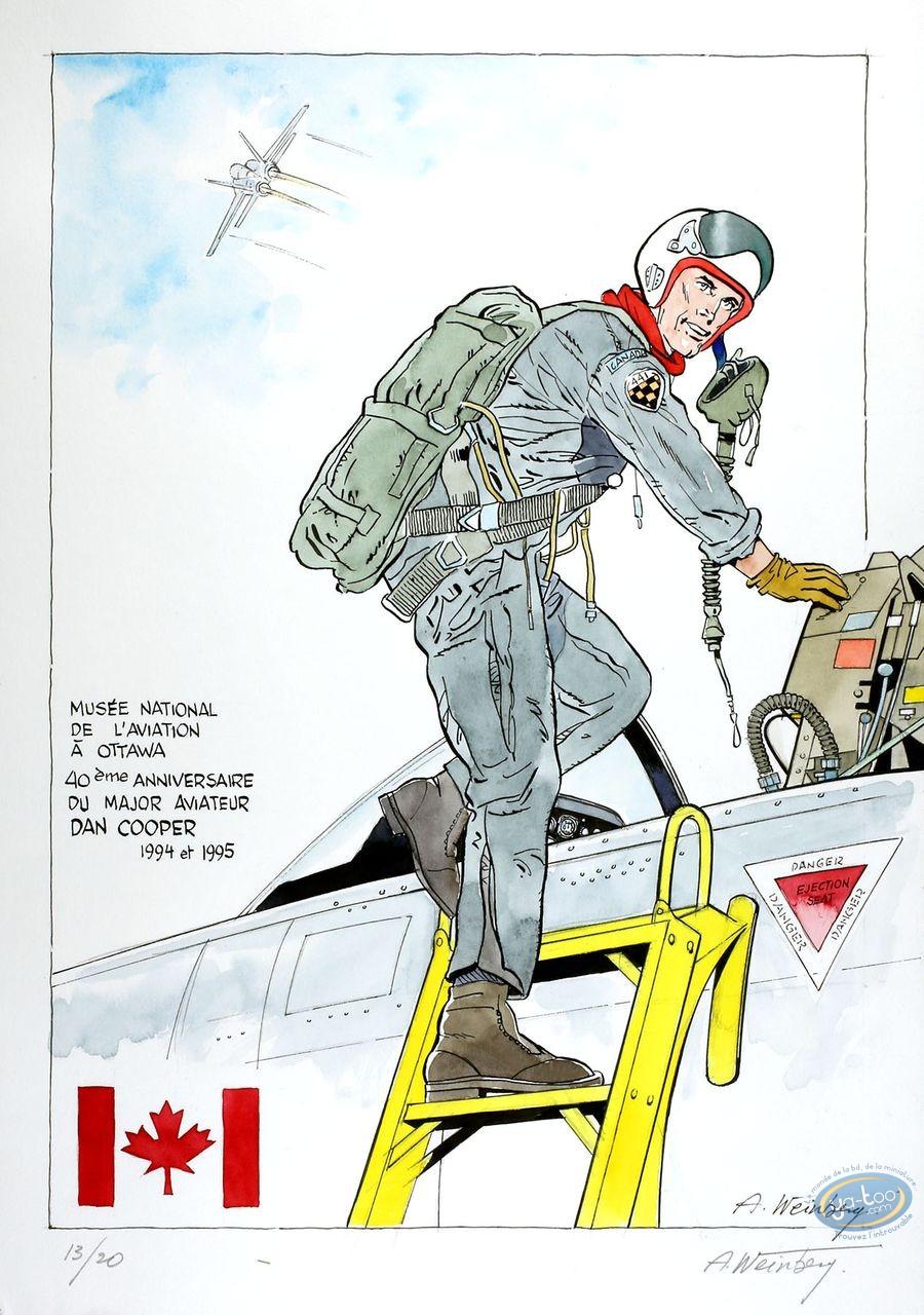 Aquarelle, Dan Cooper : Dan Cooper sortant de son Cockpit 2