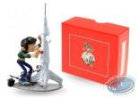 Figurine métal, Gaston Lagaffe : Collection les inventions de Gaston - La fusée modèle réduit