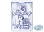 Affiche Offset, Luc Orient : Laura pluie à la fenêtre
