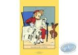 Affiche Sérigraphie, Spirou et Fantasio : Spirou reading the newspaper