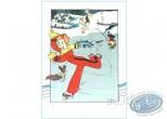 Affiche Sérigraphie, Spirou et Fantasio : Spirou patineur