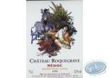 Etiquette de Vin, Zoo : Zoo - Chateau Roquegrave 1990