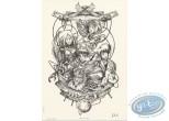 Ex-libris Offset, Miroir des Alices (Le) : Horloge n&b