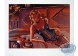 Affiche Offset, Wayne Shelton : Femme et Jeep