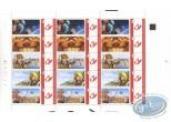 Timbre, Planche de 15 timbres, Arleston