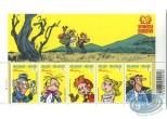 Timbre, Spirou et Fantasio : Planche de 5 timbres, Spirou
