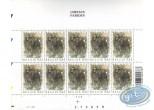 Timbre, Planche de 10 timbres chevaux