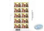 Timbre, Bakelandt : Planche de 10 timbres, Bakelandt