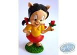 Statuette résine, Porky Pig : Petunia