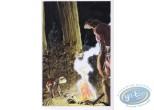 Carte postale, Rencontres : Hommes nus autours du feu