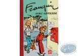 Album + timbres, Spirou et Fantasio : Avec Adresse (édition spéciale amis du Centre Belge de la Bande Dessinée)