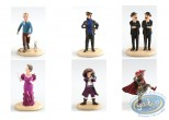 Statuette résine, Tintin : Assortiment de 6 figurines