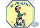 Autocollant, Gaston Lagaffe : No problem!