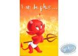 Carte postale, Hot Stuff : 1 ans de plus... et toujours un pêche d'enfer. Joyeux anniversaire!