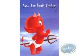 Carte postale, Hot Stuff : Avec ton look d'enfer... tu vas allumer toutes les filles! Joyeux anniversaire!
