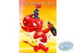 Carte postale, Hot Stuff : Toi qui kiffes grave la teuf... Je te souhaite un pur anniversaire de ouf!
