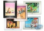 Affiche Offset, Spirou et Fantasio : Spirou : 5 posters