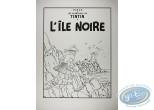 Affiche Sérigraphie, Tintin : L'Ile Noire (nb) abîmée