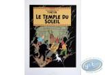 Affiche Sérigraphie, Tintin : Le Temple du Soleil