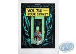 Affiche Sérigraphie, Tintin : Vol 714 pour Sidney