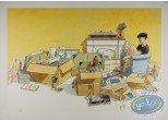 Affiche Offset, Cahier Bleu (Le) : Boxes & Souvenirs