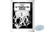 Affiche Sérigraphie, Tintin : Le Temple du Soleil (nb)