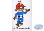 Autocollant, Scrameustache (Le) : Sticker autocollant Scrameustache
